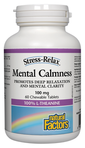 Stress-Relax Mental Calmness® formula provides natural anxiety and stress control without the side effects of pharmaceutical drugs. For anyone feeling stressed, frazzled or over-committed in this 24/7 world, this safe supplement restores mental calmness and promotes relaxation.