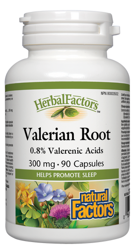 Valerian is a traditional herb used to ease pain, improve sleep, digestion, anxiety, and headaches. Valerian may increase the body's available supply of gamma-aminobutyric acid (GABA), a neurotransmitter that eases physical tension and stress. Natural Factors Valerian Root 4:1 extract contains the equivalent of 1200 mg dried root per capsule.