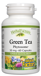 HerbalFactors Green Tea Phytosome provides a highly bioavailable form of green tea and its polyphenols, standardized to 60% catechins and 40% EGCg. This potent antioxidant helps protect the body against oxidative stress in the body and helps promote optimal health.