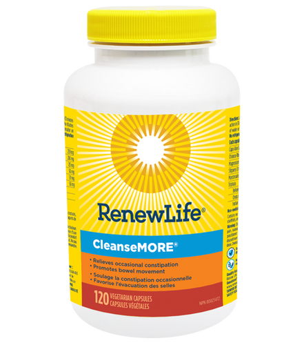 CleanseMORE® is made with naturally sourced ingredients containing 125 mg of the mineral Magnesium hydroxide along with natural herbal ingredients to help stimulate a laxative effect.