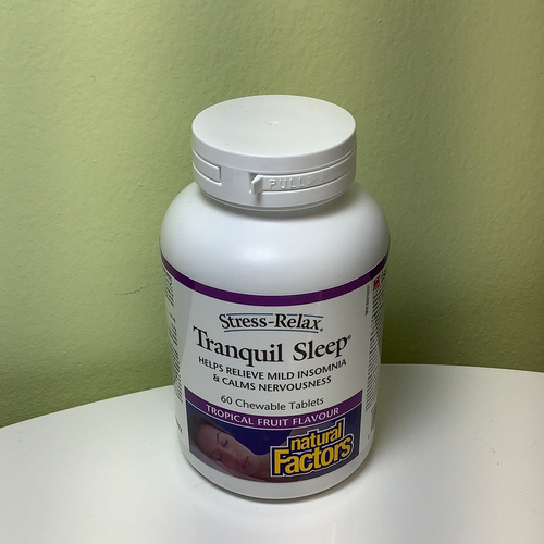 Natural Factors Stress Relax Tranquil Sleep Tropical Fruit Chewables