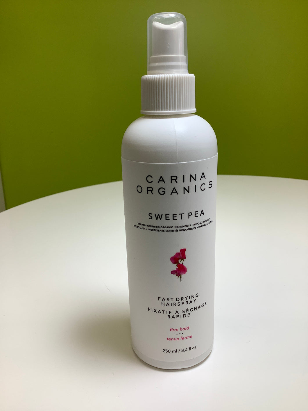 Carina Organics Sweet Pea Fast Drying Hair Spray