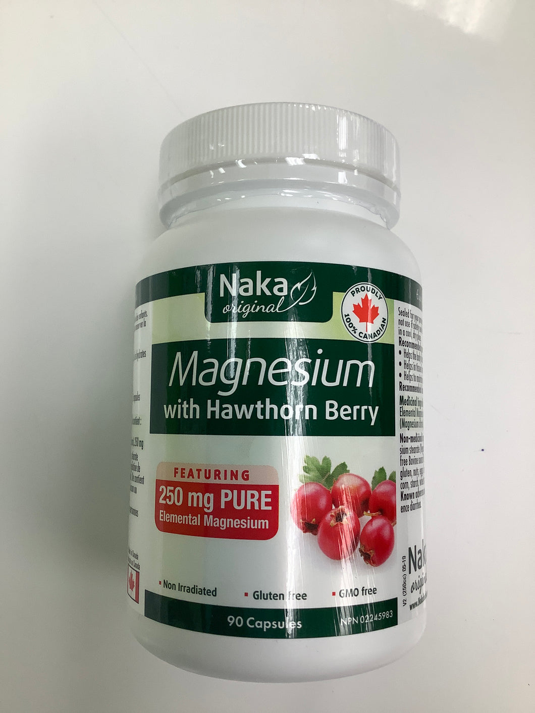 Naka Magnesium with Hawthorn Berry 90's