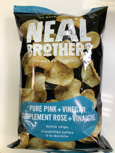 Neal Brothers Pure Pink and Vinegar Kettle Chips
