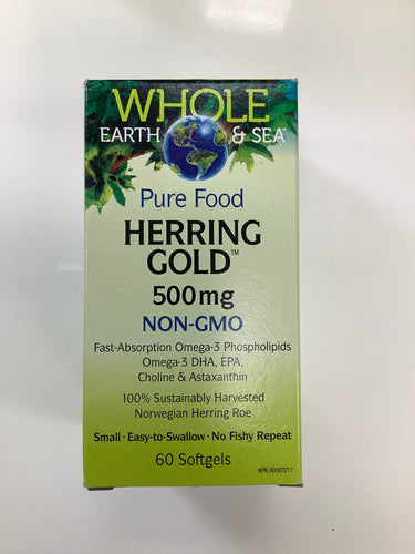 Whole Earth and Sea Herring Gold 500mg