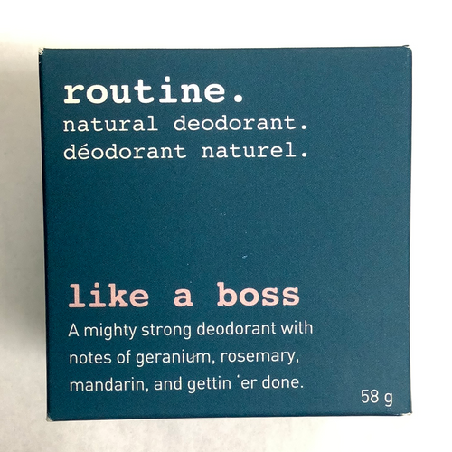 Routine Like a Boss Natural Deodorant