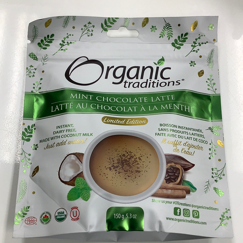 Organic Traditions Mint Chocolate Latte