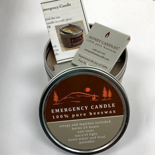 Honey Candles 100% Beeswax Emergency Candle