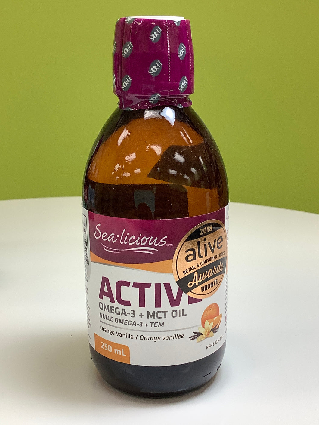 Sea-Licious Active Omega-3 plus MCT Oil Orange Vanilla