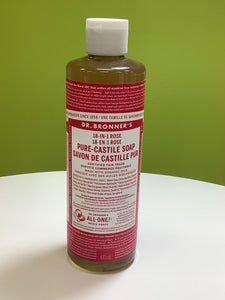 Dr. Bonner's 18-in-1 Rose Pure Castile soap