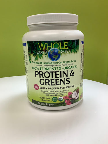 Whole Earth and Sea Fermented Protein & Greens Powder Tropical 660g