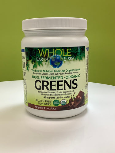 Whole Earth and Sea Fermented Greens Powder Chocolate