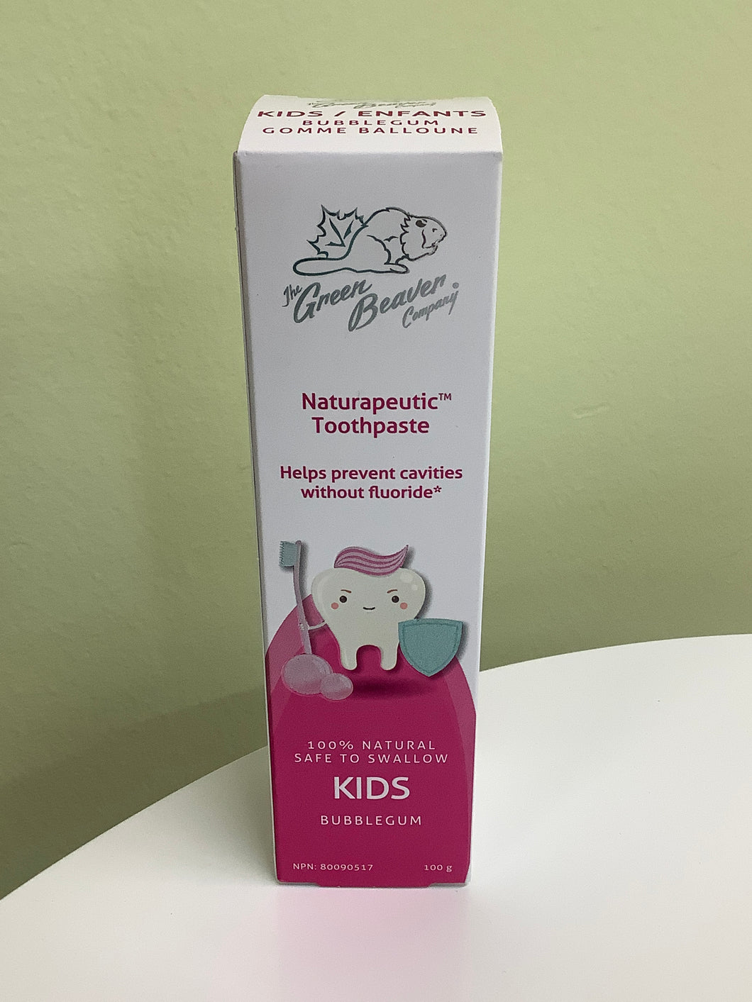 The Green Beaver Co. Kids Bubblegum Naturapeutic Toothpaste