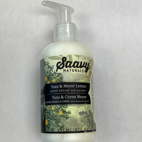 Saavy Naturals Yuzu and Meyer Lemon Body Cream