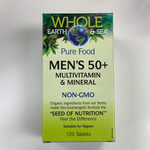 Whole Earth and Sea Pure Food Men's 50+ Multivitamin & Mineral 120s