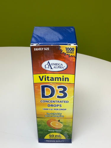 Omega Alpha Vitamin D3 Concentrated Drops