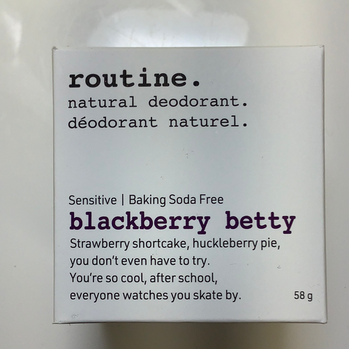 Routine Blackberry Betty Natural Deodorant-Baking Soda Free