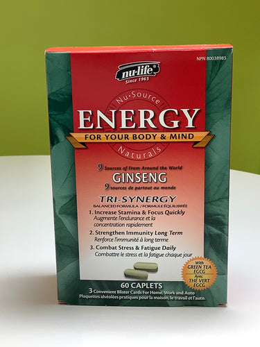 Nu-Life Energy Ginseng 60's