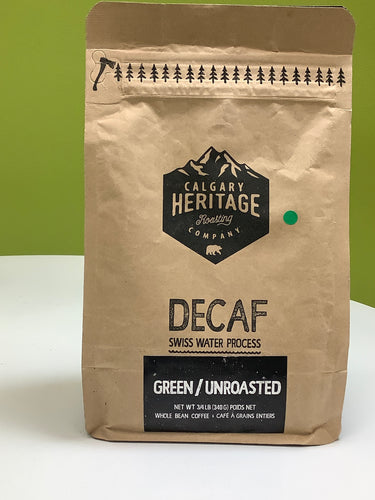 Calgary Heritage Decaf Green/Unroasted Coffee