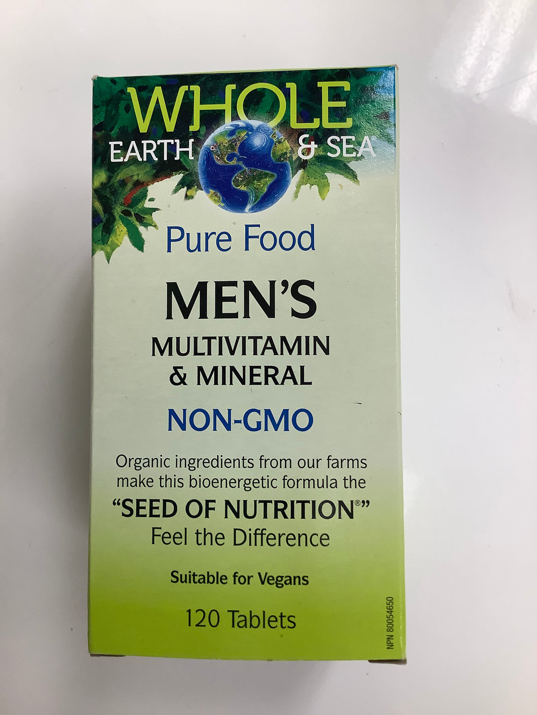 Whole Earth and Sea Men's Multivitamin and Mineral 120's