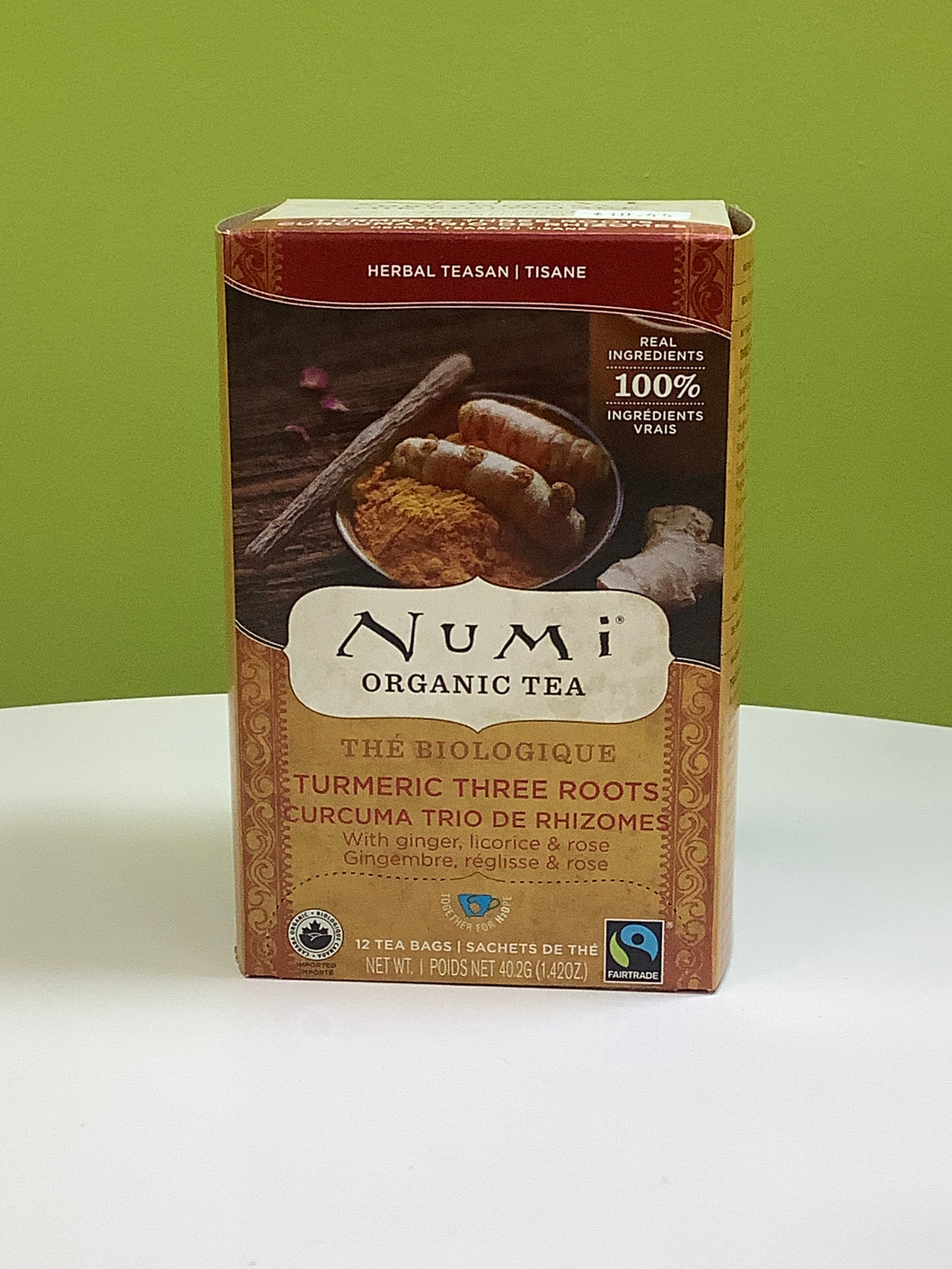 Numi Organic Turmeric Three Roots Tea