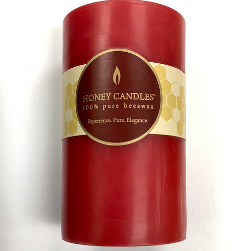 "Honey Candles 100% Beeswax 5"" Pillars"