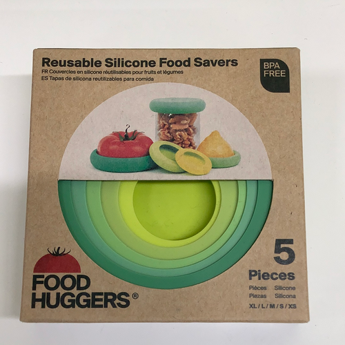 Food Huggers Reusable Food Savers 5 Piece