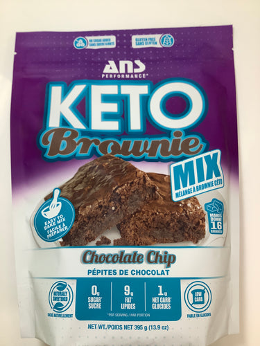 ANS Performance KETO Chocolate Chip Brownie Mix