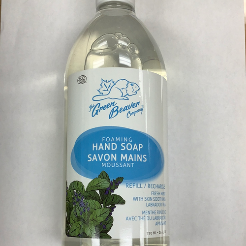 The Green Beaver Co. Fresh Mint Foaming Hand Soap Refill