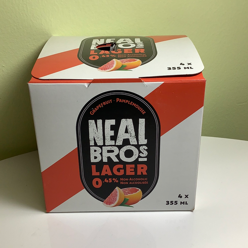 Neal Brothers Grapefruit Non-Alcoholic Lager 0.45%