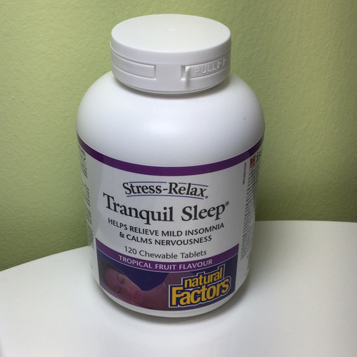 Natural Factors Stress Relax Tranquil Sleep Chewable 120s