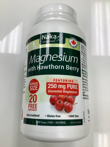 Naka Magnesium with Hawthorn Berry 200's