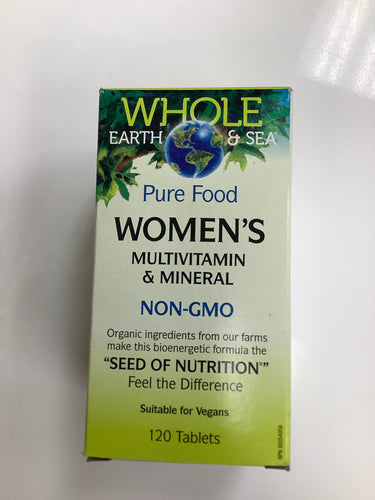Whole Earth and Sea Women's Multivitamin and Mineral 120's