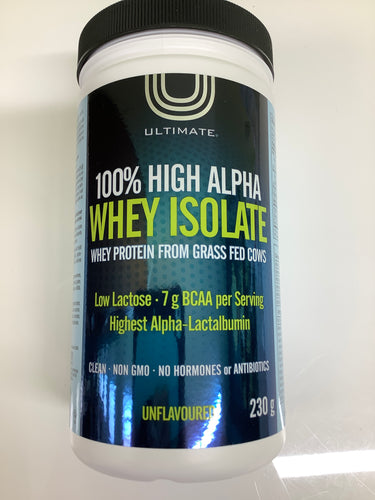 Ultimate Whey Isolate Protein Powder Unflavoured 230g
