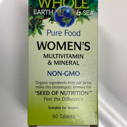Whole Earth and Sea Women's Multivitamin and Mineral 60's