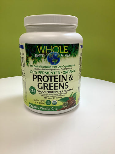 Whole Earth and Sea Fermented Protein & Greens Powder Vanilla Chai 656g