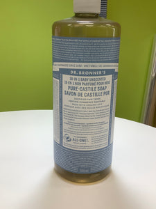 Dr. Bronner's 18-in-1 Baby Unscented Pure Castile Soap
