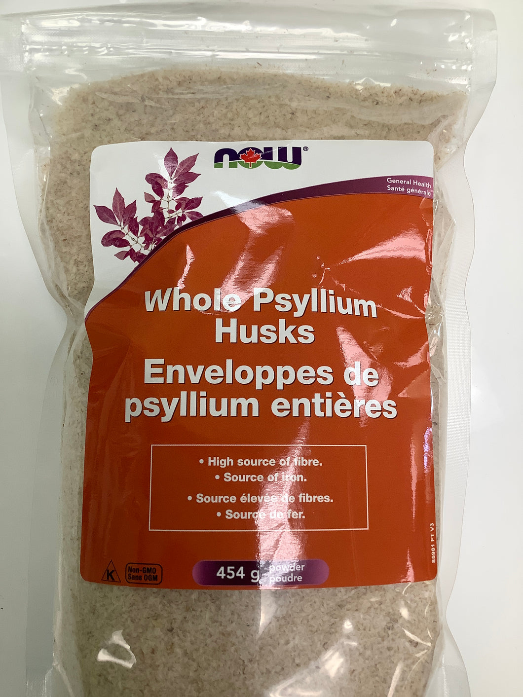 Now Whole Psyllium Husks Bag