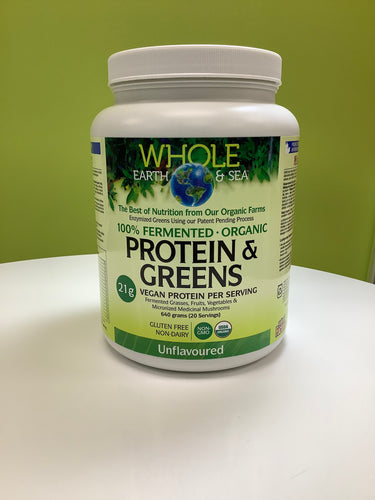 Whole Earth and Sea Fermented Protein & Greens Powder Unflavoured 640g