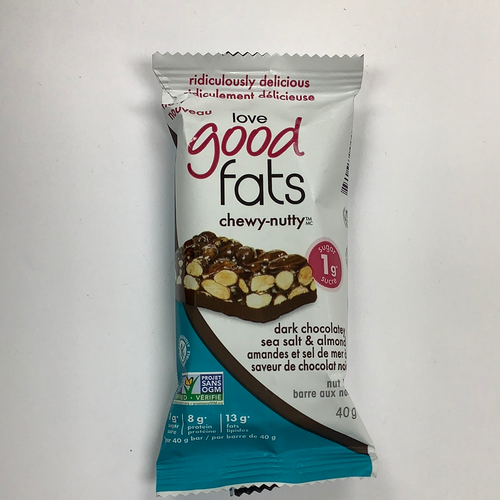Love Good Fats Dark Chocolatey Sea Salt Almond Protein Nut Bar