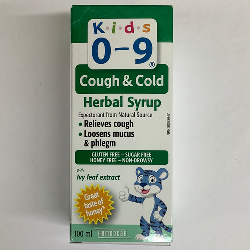 Homeocan Kids 0-9 Cough and Cold Herbal Syrup
