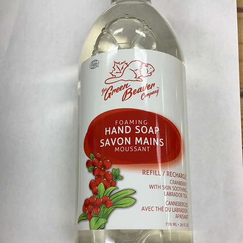 The Green Beaver Co. Cranberry Foaming Hand Soap Refill