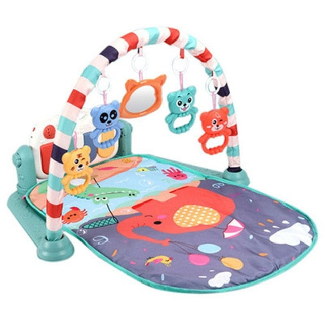 Baby Play Mat 3 in 1 Baby Gym Puzzles Music Play Mat Infant Fitness Carpet W//Piano Keyboard /& Animal Playmat Baby Gym Crawling Activity Mat Baby Rattle Toy Kids Game Playing Rug Educational Rack Toys