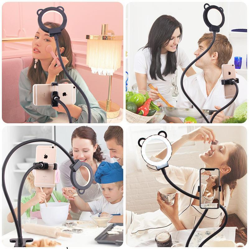 Professional Selfie Ring Light with Cell Phone Holder Stand