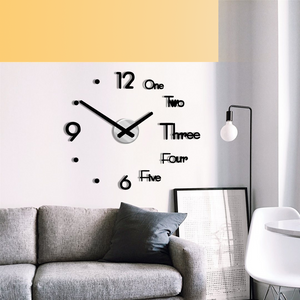 3D DIY Frameless Wall Clock