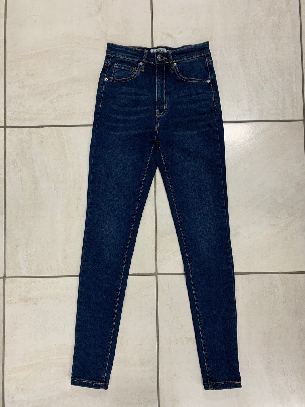 Mid Rise Slim Denim Jean
