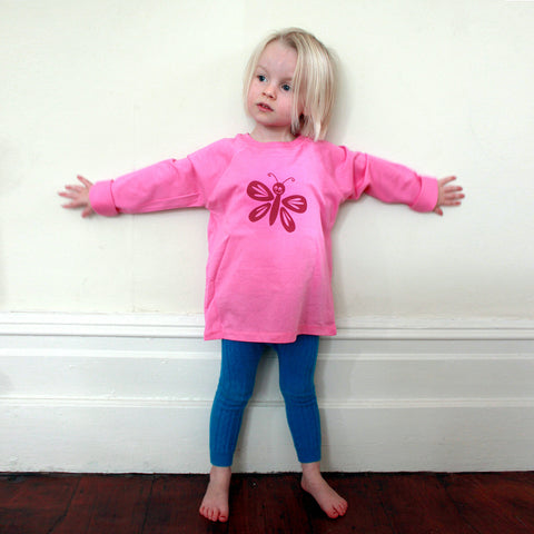 Bella butterfly pink t-shirt