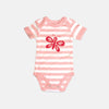 Tobytogs Bella pinkstriped baby bodysuit cut-out