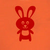 Tobytogs Daisy rabbit short sleeved orange t-shirt close-up