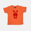 Tobytogs Daisy rabbit short sleeved orange t-shirt cut-out